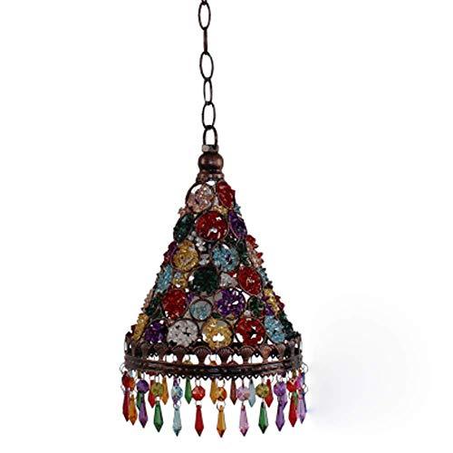 Hai Ying hanglamp Oosterse Marokkaanse retro-wandlamp met mediterrane design en acryl, voor zitkussens in de woonkamer, diameter 19 cm x 33 cm