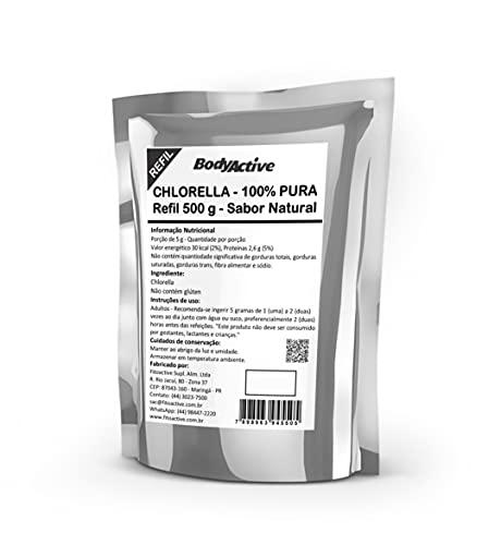 Chlorella (Clorela - Clorella) Pó 100% Pura Refil 500 G Bodyactive