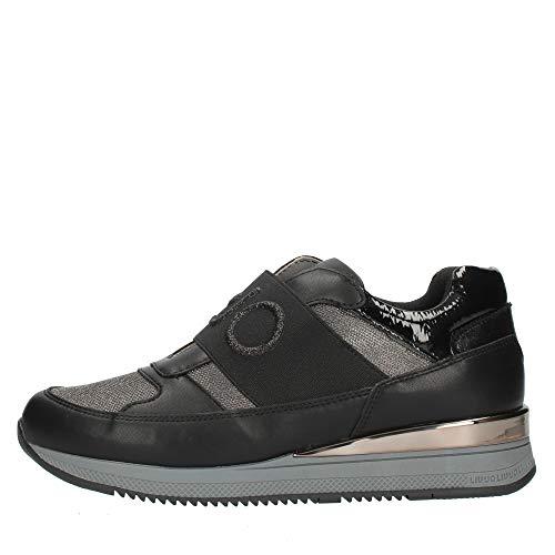 Sneakers da Donna Liu Jo in Pelle Black Modello 4F0743EX016-Connie 152 con Stringhe. Una Calzatura Comoda per Un Look Sempre impeccabile. Collezione Autunno Inverno 2021. EU 35