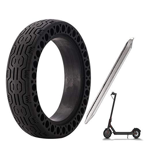 EMEBAY 20 cm solide däck + kofot, fram/bakre däck hjul byte för Xiaomi mijia hållbar 8 1/2 x 2 M365 elektrisk scooter skateboard (solide däck + kofot)