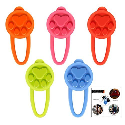 iPobie 5 Stück Silikon Hunde Leuchtanhänger Leuchthalsband LED Hundehalsband Anhänger