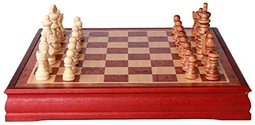 Juego de ajedrez Juego de Viaje para Adultos, niños, Tablero, Juego de ajedrez, Palo de Rosa, Madera Maciza, ajedrez, niños Adultos e Occidental, Tablero de ajedrez, Relax Mood DOC36