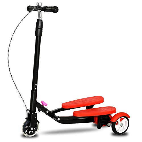 Kinder Roller Laufband Roller 3~15-jährige Baby Frosch Dreirad Schere Männer und Frauen Pedal Swing Car, rot
