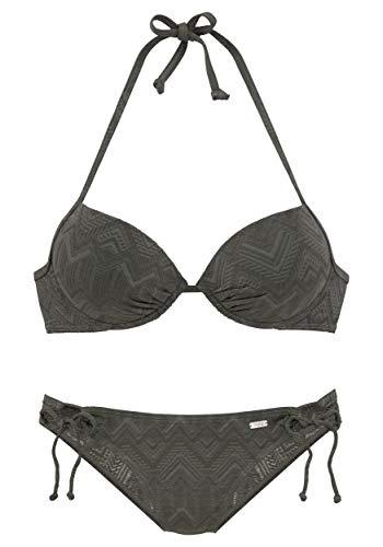 Buffalo Push-Up-Bikini B, Größe:38B, Farbe:Oliv