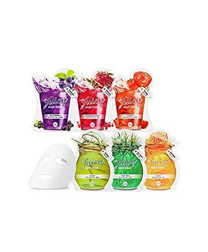Holika Holika Juicy Mask Sheet Granatapfel Heidelbeer Aloe Vera Teebaum Honig Tomate Gesichtsmaske Korean Kosmetik SET 6pcs