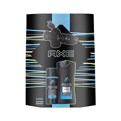 Axe Geschenkset Alaska (Bodyspray 150ml + Duschgel 250ml + Waterbottle)
