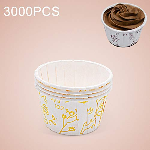 Best Prices! YCDZ STORE Food Molds 3000 PCS Flower Pattern Round Lamination Cake Cup Muffin Cases Ch...