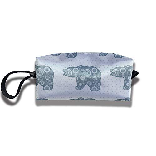 Bbhappiness Pouch Handbag Cosmetics Bag Case Purse Travel & Home Portable Make-up Receive Bag Bear