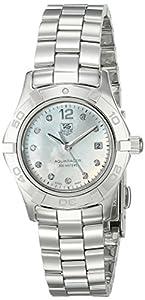 TAG Heuer Women's WAF1415.BA0824 Aquaracer 28mm Stainless Steel Diamond Dial Watch image