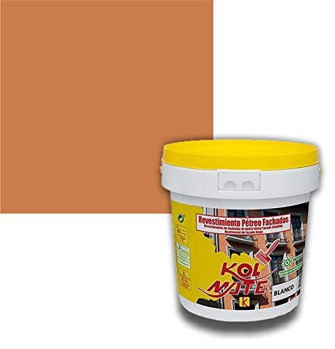 Revestimiento Pétreo de Fachadas KOLMATE. Pintura especial para fachadas (5 kg, terracota)