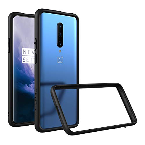 RhinoShield Bumper Case Compatible with [OnePlus 7T Pro/OnePlus 7 Pro] | CrashGuard - Shock Absorbent Slim Design Protective Cover [3.5M / 11ft Drop Protection] - Black