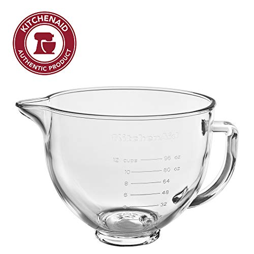 KitchenAid KSM5GB Stand Mixer Bowl, 5 quart, Glass with Measurement Markings