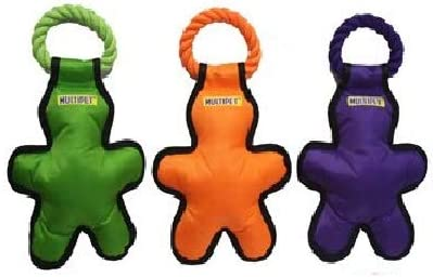 Multipet Tug quality assurance 'O Man with Rope Pack Dog Toys 14