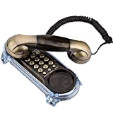 Oumij Retro Vintage Antique Telephone Old Fashioned with Push Button Dial for Home Decor Antique Retro Wall Mounted Telephone Corded Phone Landline Fashion Telephone for Home Hotel(Bronze)