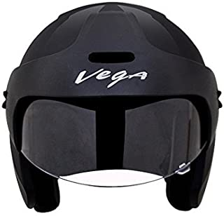 Vega BUD-OF-K Half Face Helmet (Black, XS)