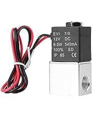 Elektrisch magneetventiel van aluminium, pneumatisch, normaal gesloten, DC 12 V.