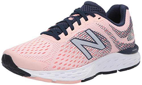 New Balance Women's 680 V6 Running Shoe, Peach Soda/Ginger Pink/Natural Indigo, 7 M US