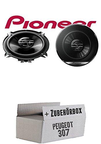 Lautsprecher Boxen Pioneer TS-G1320F - 13cm 2-Wege 130mm PKW Koaxiallautsprecher Auto Einbausatz - Einbauset für Peugeot 307 - JUST SOUND best choice for caraudio