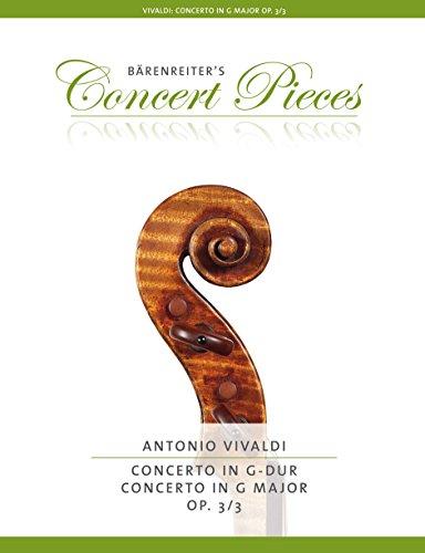 Antonio Vivaldi: Concerto For Violin In G Op.3/3. Für Violine, Klavierbegleitung