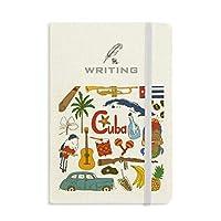 キューバの風景の動物の国旗 ノートブッククラシックジャーナル日記A 5を書く