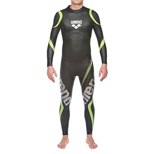 arena Herren Profi Triathlon Neoprenanzug Carbon (Optimale Wasserlage, Verbesserte Bewegungsfreiheit), Black (50), L