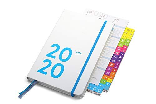 weekview compact note 2020, limited white edition - der clevere Wochenplaner! 12 Monate, mit großem Notizteil, 12x18cm