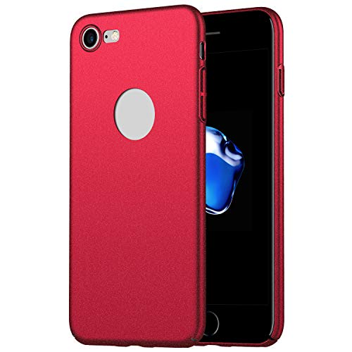 1SourceTek iPhone 7/iPhone 8 Case, Ultra Slim Hard Reinforced PC Non-slip Snap-on Protective Case with Matte Finish for iPhone 7/iPhone 8 (Red)