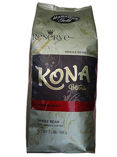 Hawaiian Gold Kona Blend Coffee, 2 Pound (Pack of 1)