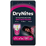 Huggies DryNites - Pañales de noche muy absorbentes para niños de 4 a 7 años, 1 paquete de 10 unidades (17 a 30 kg)