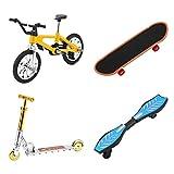 VORCOOL Finger Scooter Finger Roller Mini Finger Spielzeug Set Winzige Finger Skateboard Fahrräder Roller Kleine Schaukel Fingerspitze Bewegung Sport