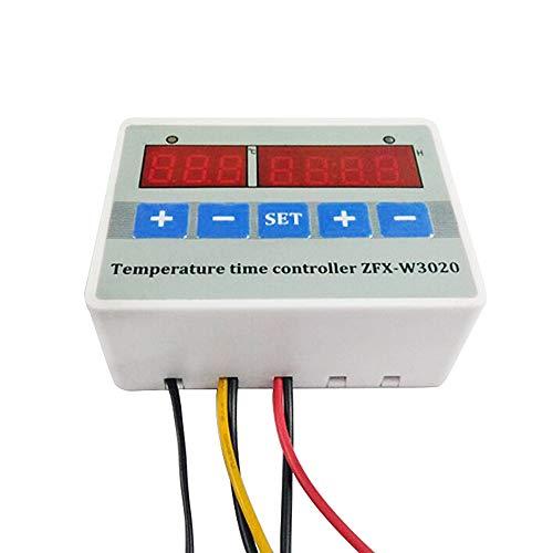 Huatuo ZFX-W3020 Pantalla digital Controlador inteligente de tiempo de temperatura Termostato Interruptor temporizador Ajustable con control de tiempo (220V)