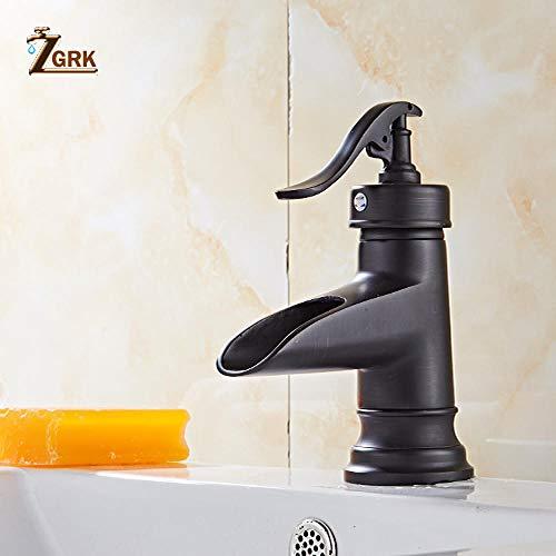 WANDOM kraan voor badkamer, kraan voor wastafel zwart keramiek keuken wastafel voor gelijktijdige installatie buitenshuis Slt8051g
