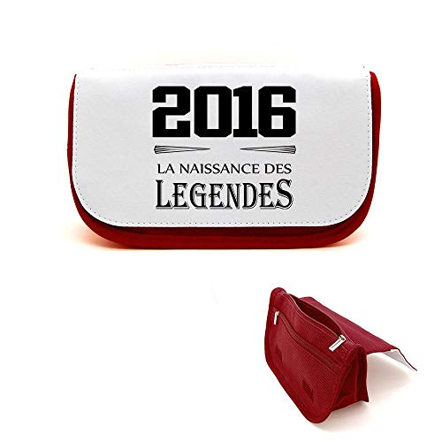 Mygoodprice Trousse de beauté étui maquillage anniversaire 2016 légendes Rouge