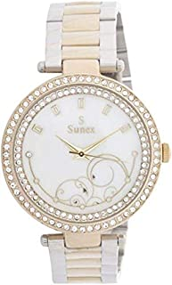 Sunex Women's White Dial Stainless Steel Band Watch - S6381TW