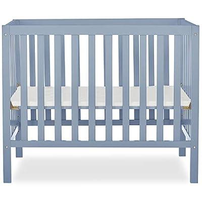 Dream On Me, Edgewood 4-in-1 Convertible Mini Crib, Dusty Blue by AmazonUs/AFKFD