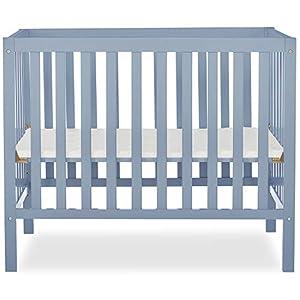 Dream On Me, Edgewood 4-in-1 Convertible Mini Crib, Dusty Blue