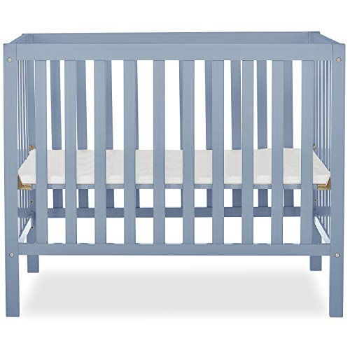 Dream On Me, Edgewood 4-in-1 Convertible Mini Crib, Dusty Blue