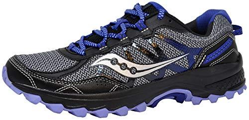 Saucony Women's Excursion TR11 Running Shoe, Grey/Black/Purple, 8 M US