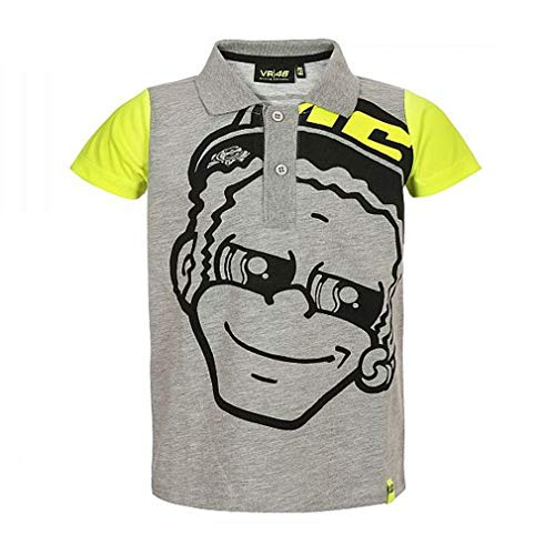 Valentino Rossi Polo Shirt Kinder grau VR46 MotoGP Der Arzt Offiziell Neu