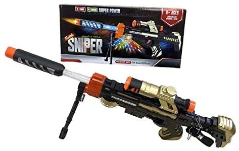 CAMO Toy Gun, Toy Riffle, Toy Sniper, Toy Guns That Look Real Machine Gun with Lights and Sound Effects Toy Guns for Boys with Sound and Light, Toy Army Guns - Realistic Toy Guns (Battle Sniper 20'')