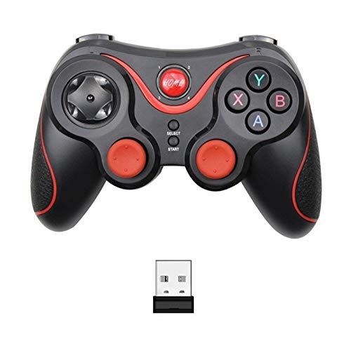 Lwzzdz para T-ERIOS T3 X3 Joystick Wireless Gamepad Gamepad Bluetooth BT3.0 Joystick, para teléfono móvil Tablet TV Box Soporte Joystick de Juego de computadora (Color : T3 Plus with Adapter)