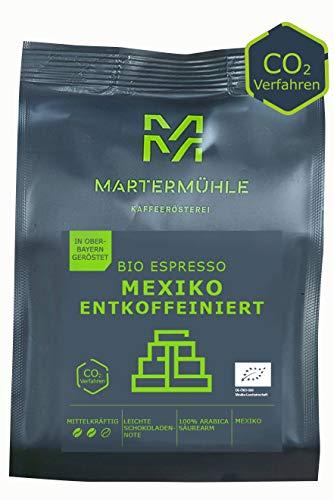 Martermühle Bio Espresso Mexiko entkoffeiniert I Espresso ganze Bohnen I Espressobohnen entkoffeiniert I Espresso Bohnen I geröstete Espressobohnen I säurearm I 100% Arabica I 250g