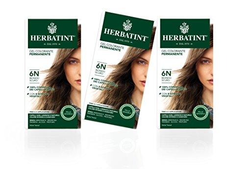 Herbatint Haarfarbe Gel 6N Dunkeles Blond 3x150ml