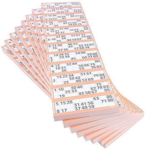 Jumbo Bingo Ticket à l'unité, 12 afficher Lot, Marron
