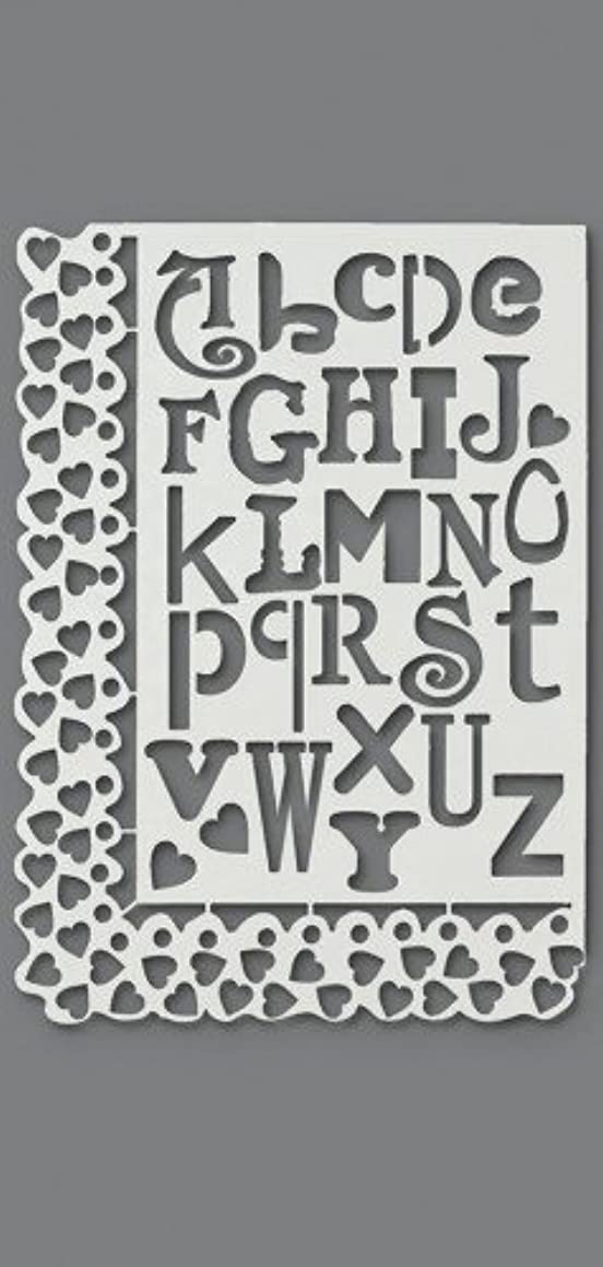 Efco Stencil Letters and Hearts / 27 Designs DIN A 4, 30 x 21 x 1 cm