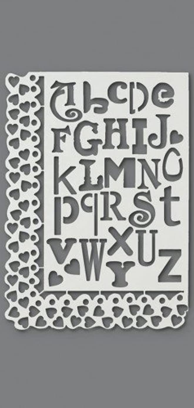Efco Stencil Letters and Hearts / 27 Designs DIN A 4, 30 x 21 x 1 cm ely1816301