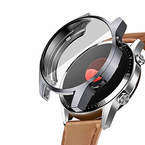 Capa compatível com Huawei Watch GT 2 46 mm Capa protetora TPU macia antiarranhões com película fina integrada para Huawei Watch Gt 2 2019 (46 mm)