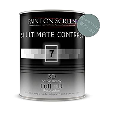 Paint On Screen Projection/Projector Screen Paint - S1 Ultimate Contrast-Gallon G007
