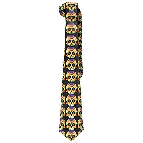 Vintage Floral Sugar Skull Corbatas de seda clásicas para hombre Corbatas de regalo personalizadas