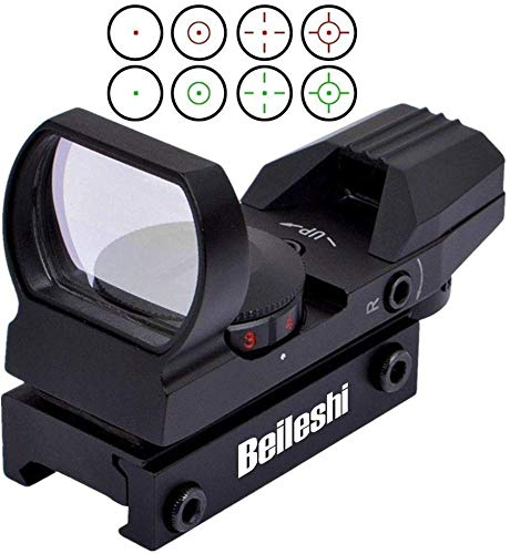 beileshi Tactical Reflex 4 Reticle Green Red Dot Sight Scope